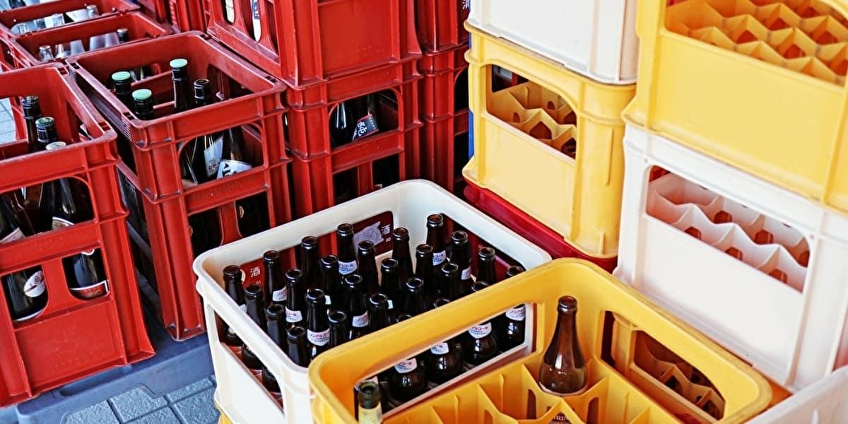ビール瓶とケースの回収